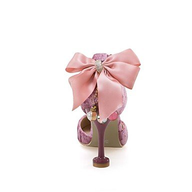 LvYuan Da donna-Sandali-Matrimonio Formale Serata e festa-D'Orsay Club Shoes Comoda-A stiletto-Felpato-Rosa Rosso Beige Red