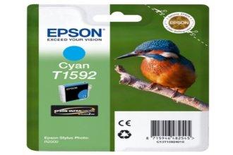 Preisvergleich Produktbild Original Epson C13T15924010 / T1592 Tinte (cyan, Inhalt 17,00 ml) für Stylus Photo R 2000