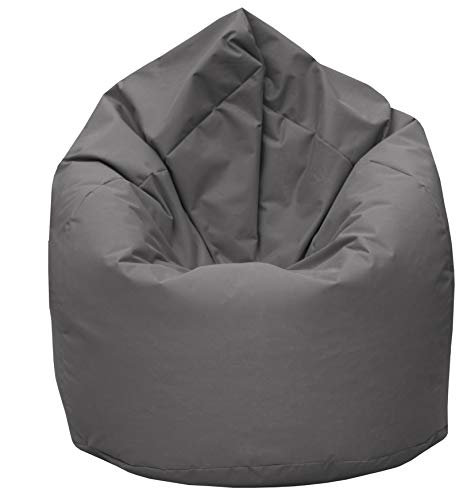 GiantBag Sitzsack Drope-Shape Möbel Sessel Kissen In & Outdoor (XXXXL, Anthrazit)
