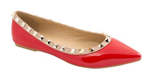 Elara - Pantofole Donna Rosso