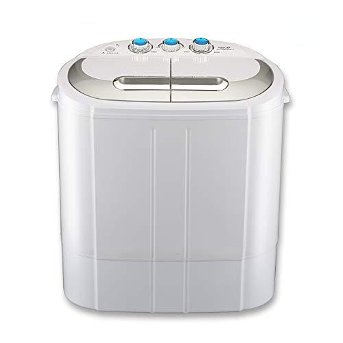 MOUTALE Double Tub Machine à Laver 3.0kg Lavage 2.0kg SéChage Portable Compact Laveuse Et Essoreuse Combo pour Camping Dortoirs Appartements CollèGe Chambres