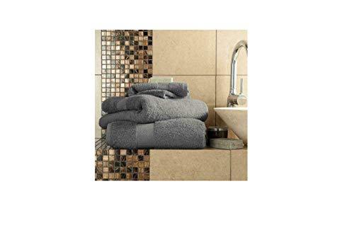 Hometric Handtuch-Set Handtuch Badetuch Gesichtshandtücher 100% Baumwolle Badset Modern grau - Moderne Handtuch-set