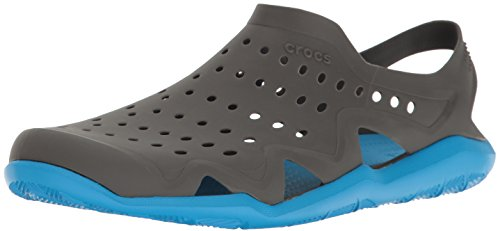 Crocs Herren Swiftwater Wave Brogue, Grau (Graphit / Ocean), 39/40 EU