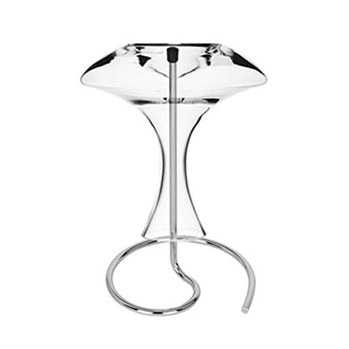 Justdolife Decanter Stand Vintage Metall Trocknen Dekanter Rack Dekanter Halter 6.7 '' x 11.6 ''
