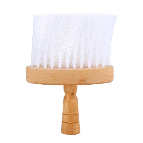 cepillo para el cabello suave cuello Duster Pinceles Pelo Limpio mango de madera para barbería Peluquería