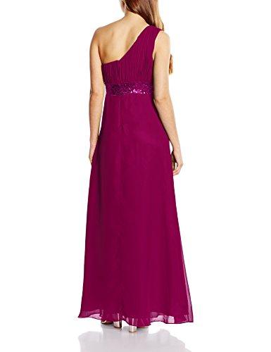 Astrapahl Damen Kleid One Shoulder mit Pailletten, Maxi Violett (Purple)