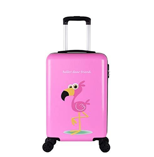 Amio Trolley Universal Rad Cartoon Kind Koffer weibliche koreanische Version des Koffers 24 Zoll 20 Zoll 26 Zoll (Color : Pink, Size : XL)