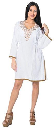 ... La Leela sanfte Rayon bestickt Hals Frauen Casual Badeanzug  Badebekleidung Tunika-Bikini-Vertuschung- ...