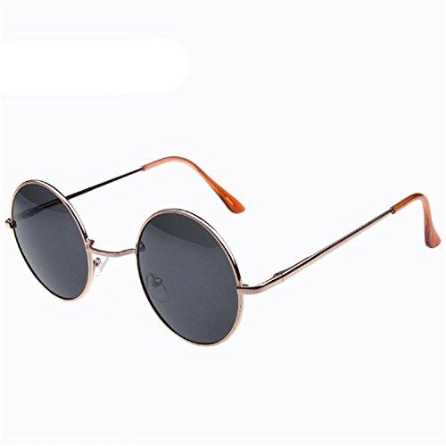 Z-P New Style Wayfarer Fashion Unisex Round Metal Frame Dazzle Colour Film Reflective UV400 Sunglasses 50MM