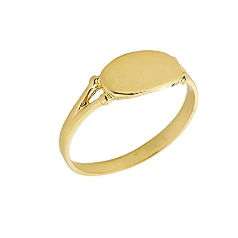 Little Treasures - 10ct Yellow Gold Engravable Signet Ring
