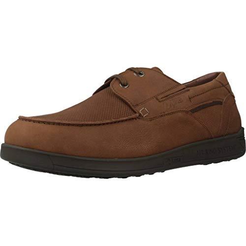 24 Horas Zapatos 10615 24H para Hombre Marrón 45 EU