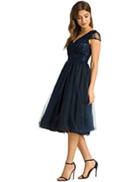 Chi Chi Cosette Kleid navy