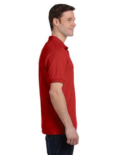 HanesHerren Poloshirt Tiefrot