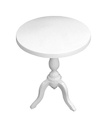 Metall Tisch hochglanz weiß (Weißes Podest, Beistelltisch)