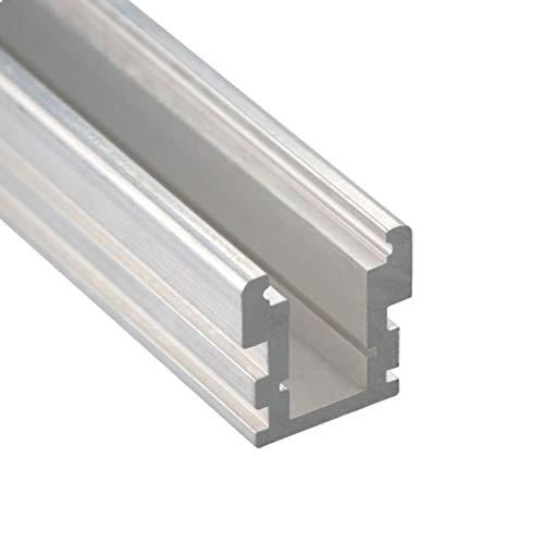 Profi LED Profil für LED Stripes - Serie HR (Alu-Profil Aluminium Montageprofil HR-Line, befahrbar, Alu Natur): LED Band, LED Stripe, LED Strip - hochwertiges Kühlprofilen für LED Lichtband von Isolicht -