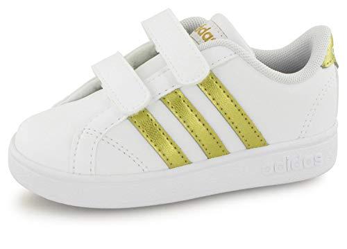 adidas Baseline Cmf Inf, Scarpe da Fitness Unisex-Bambini, Multicolore (Ftwbla/Dormat/Negbás 000), 23 EU