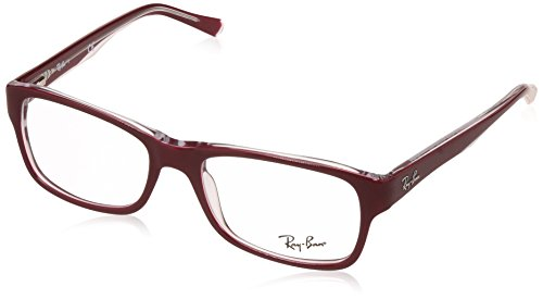 Ray-Ban Unisex-Erwachsene Brillengestell 0rx 5268 5738 52, Rot (Top Bordeaux On Transparente)