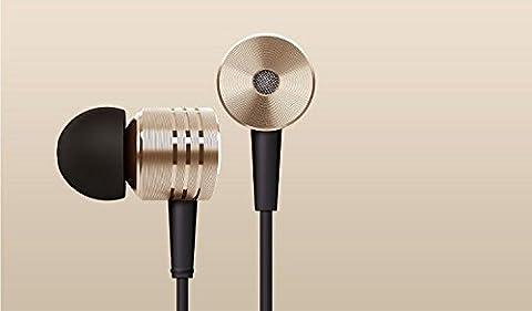 Coussinets en métal Écouteurs mains libres avec micro et télécommande pour divers appareils