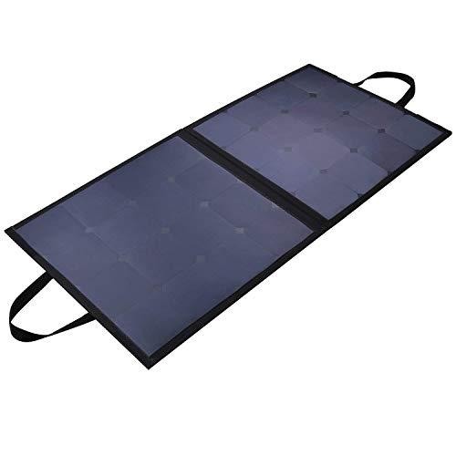 AUKEY 100W Caricabatteria Solare, Pannello Soalre per iPhone XS/XR/X/ 6s, Samsung S9/ S9+, iPad, LG, Nexus ECC.