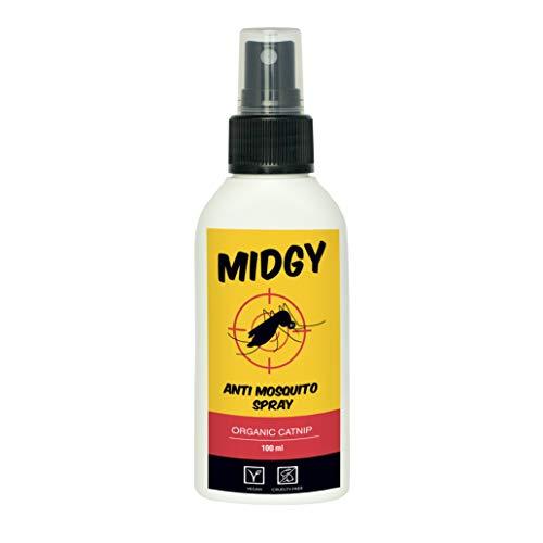 Anti Mücken Spray von MIDGY I Mückenvertreiber spray ohne DEET I Insektenspray mit Katzenminze 100 ml I Nachhaltige & einfache Alternative zum Insektenvernichter & Insektenkiller