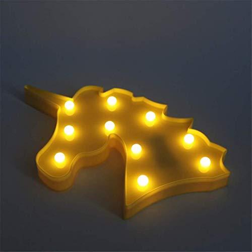 CC6 Lumière de Nuit Licorne Tête Accessoires Tir Lumières Décoratives LED Lampe de Bureau Mignon Salle des Enfants Style Nuit Lumière Rêve Tenture Murale