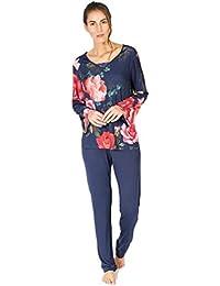 MASSANA Pijama de Mujer Estampado Flores P681242 - Marino, L