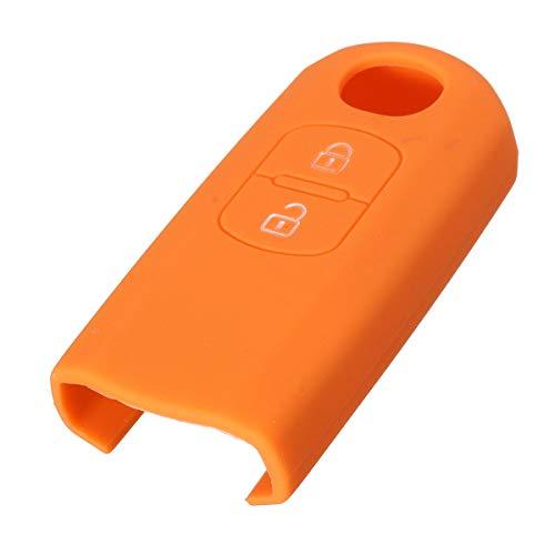 PeroFors 2 Button Silikon Cover Fob Case Remote Key Case for Mazda 2 3 5 6-Orange