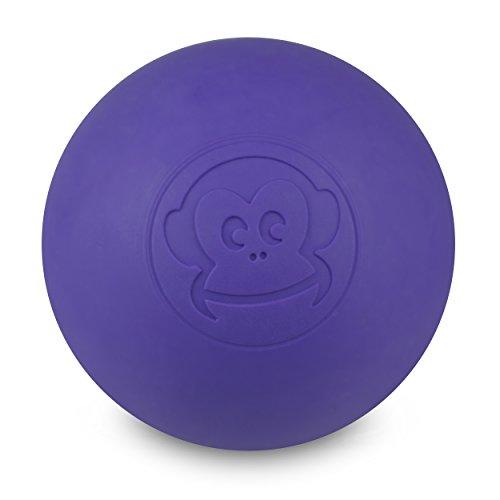 Preisvergleich Produktbild Captain LAX Massageball Original - Lacrosseball in der Farbe Violett,  aus Hartgummi,  mit den Maßen 6 x 6 cm geeignet für Triggerpunkt- & Faszienmassage / Crossfit