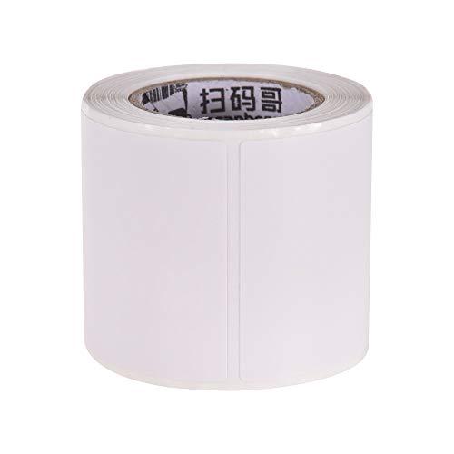 Leslaur 40 * 40mm 1 Rolle Thermopapierrolle selbstklebendes Etikettendruckpapier Thermoaufkleber kompatibel für BT Thermo-Etikettendrucker