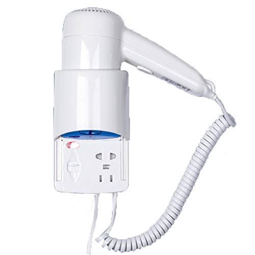 Beste Turmalin Haartrockner (FENGMM Wand-Haartrockner, Hotel-Badezimmer-Haushalts-Haartrockner, Mit LED-Licht, Silent 2 Speed   White)