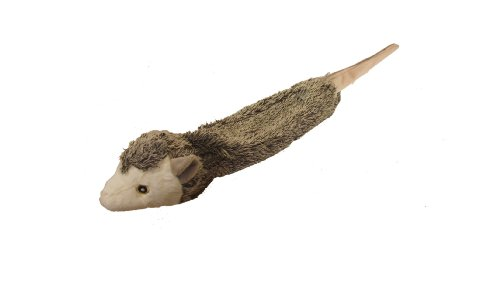 MULTIPET Bouncy Burrow Buddies Unstuffed Plush Possum Dog Toy with Rubber Ball in The Head and a Tail that Squeaks, 20… 1