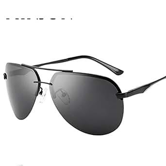 2019 authentisch weich und leicht neu kaufen Randlose Sonnenbrille Herren/Polarisierte Frosch Brille ...