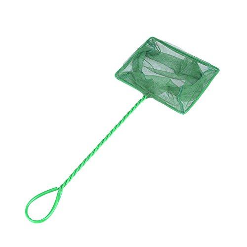 Leisial 1PC Grün Fish Net Fisch Kescher hochwertiges Fangnetz aus reißfestem Nylon für Aquarien Netz Garnelen Garnelenkescher,23*8*10CM