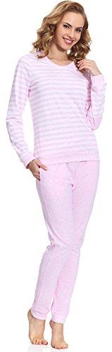 Merry Style Damen Schlafanzug MS10-107 Rosa