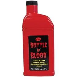 Bottle Of Fake Blood 0.5L Halloween Face & Body Kit Dracula Vampire Fancy Dress (maquillaje/pintura de cara)