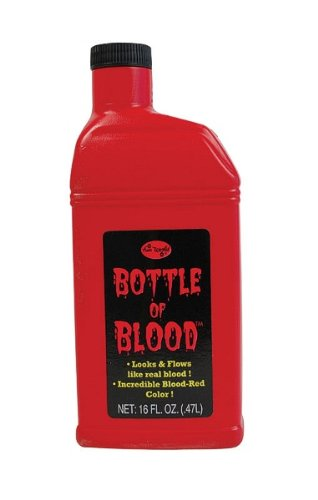 Bottle of Fake Blood 0.5L Halloween Face & Body Kit