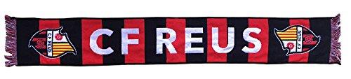 CF Reus Bufreu Bufanda Telar, Negro / Rojo, 140 x 20 cm