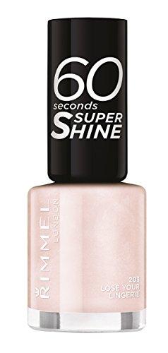 Rimmel London - 60 Seconds Supershine, Smalto per unghie ultra brillante, N. 203 Lose Your Lingerie, 8 ml