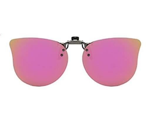 KOMNY Kinder Sonnenbrille Clips Licht polarisierte Sonnenbrille Männer und Frauen Kinder Myopie Clip-Typ UV-Visier Gläser, B