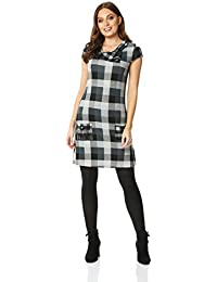 d8a42f9d5b Roman Originals Women Check Pocket Tunic Dress - Ladies Everyday Smart  Casual Work Office Meeting Comfortable