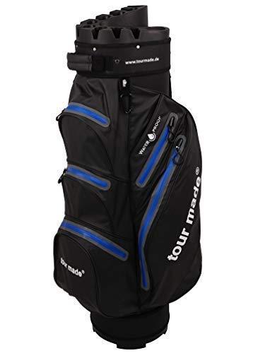 tour-made Waterproof WP14 Organizer Trolleybag Golfbag Golftasche wasserdicht (schwarz-blau)