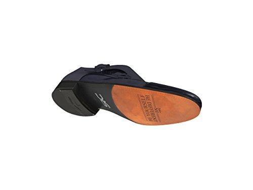 Brillante Monje Doble Encargo Hombre Ante De Azul Zapatos wq0FTI40