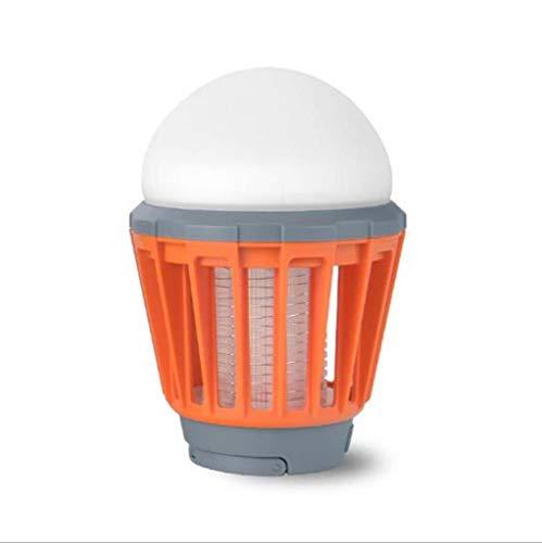 Tragbarer Moskito-Mörder, Haus, Patio, USB-kampierendes Zelt-Licht, Wasserdicht, LED-dimmbare Glühlampe, Schwarzes (Color : ORANGE) (Led-haus-glühlampen)
