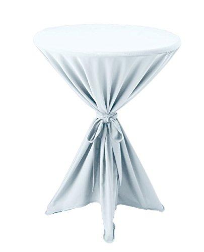 Premium Gastro Stehtisch Husse Ø 80-90cm Tischhusse Bistrotisch Tisch Überwurf Tischdecke weiß
