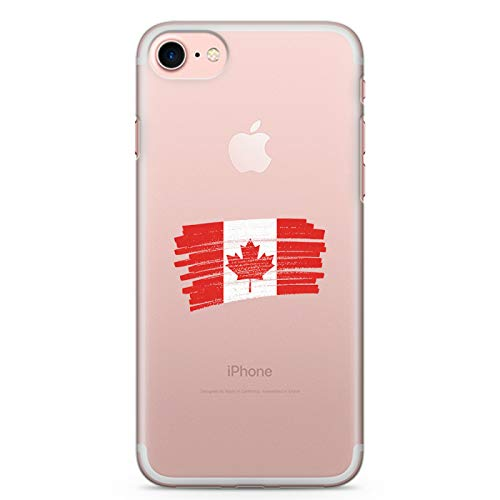 ZOKKO Coque iPhone 7 Drapeau Canada - Taille iPhone 7