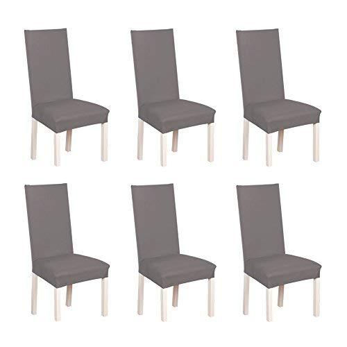 S.D Maket Bella vita * 6 cinghia elastica Freistuhl tratto riferimento copertura fodera copertura della sedia fodera per il matrimonio (grigio)