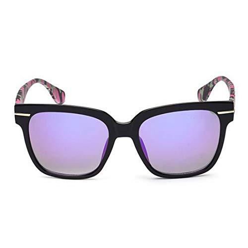 XIAOTANBAIHUO Sonnenbrillen und Sonnenbrillen Camouflage Leg Full Frame Retro-Sonnenbrille für Frauen Männer UV-Schutz für Outdoor-Fahren Urlaub Sonnenbrille UV-Schutz Schutzbrille (Farbe : Lila)