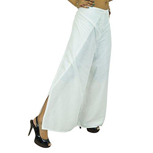 Pantalon yoga Aladdin Casual Hippie Baggy Trousers Harem femmes indiennes Blanc