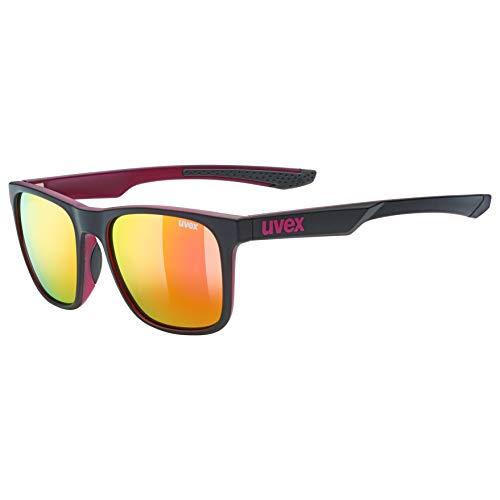 Uvex Erwachsene lgl 42 Sonnenbrille, Schwarz/Lilac, One Size