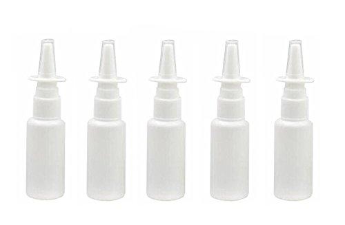 Nasenspray-Behälter, tragbar und nachfüllbar, auch für Make-up und Wasser geeignet, für zu Hause und unterwegs, aus Kunststoff, Weiß, 12Stück